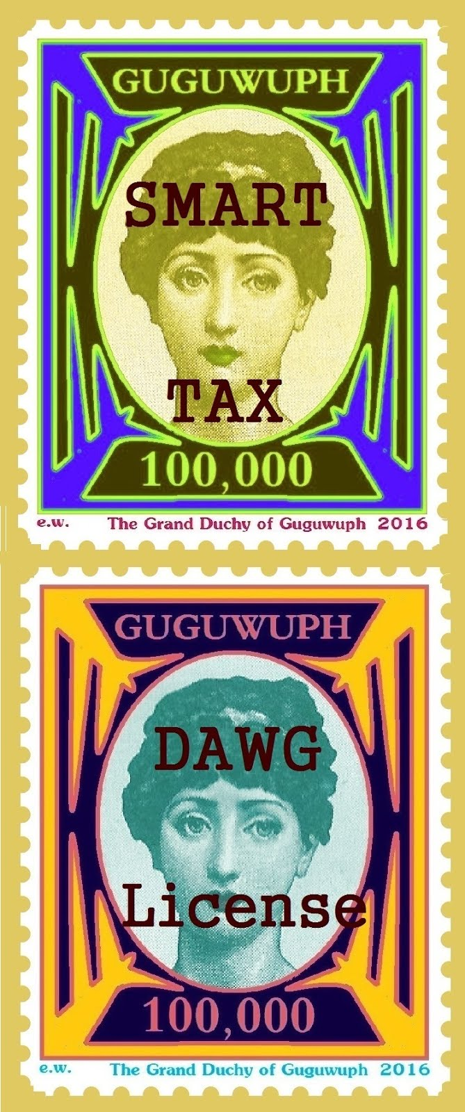 STAMPS OF THE GRAND DUCHY OF GUGUWUPH