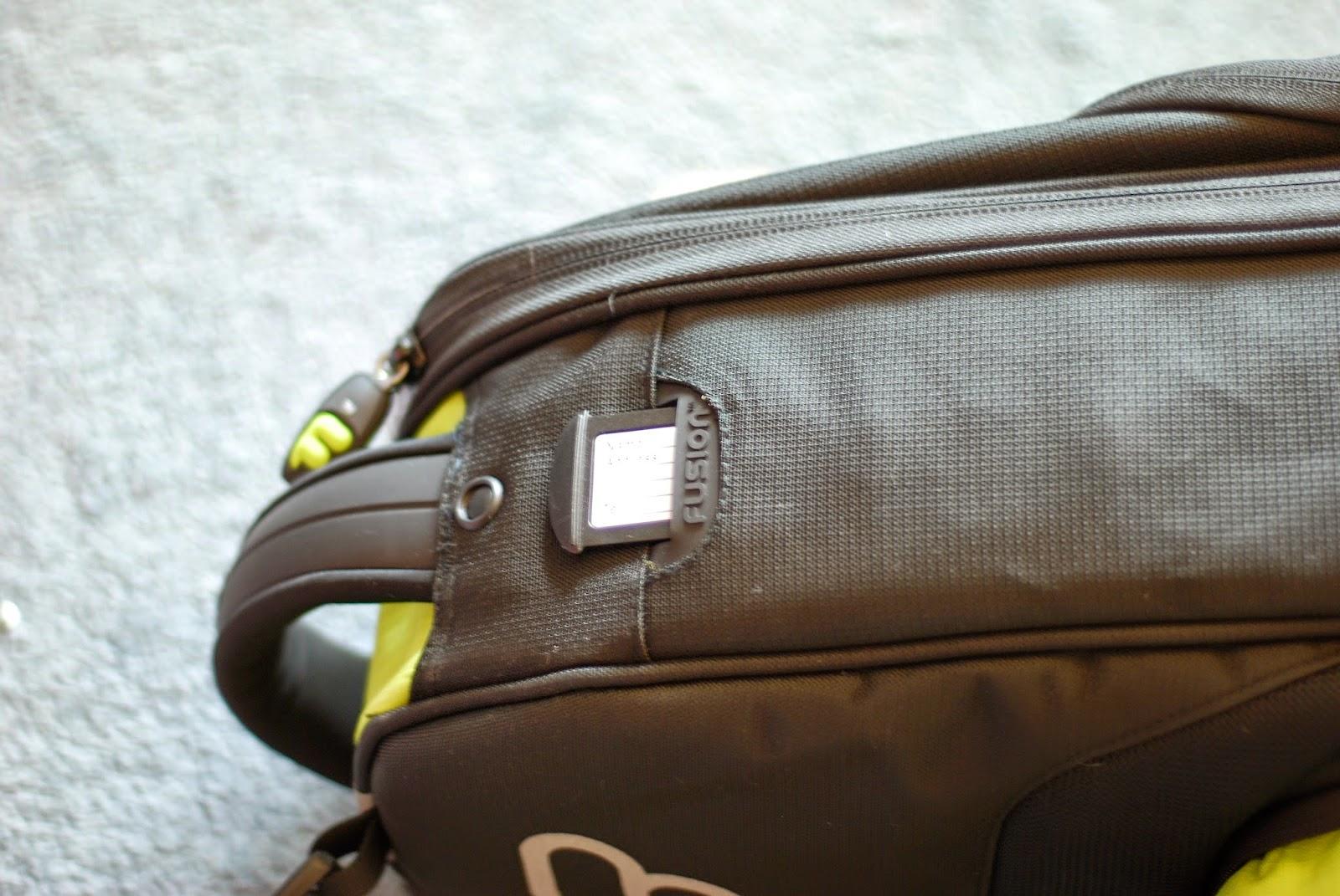 Fusion Premium Ukulele Gig Bag address tag and grab handle