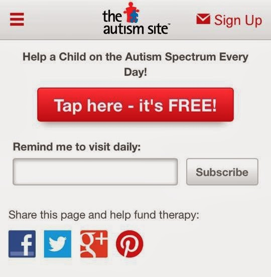TheAutismSite.com screenshot