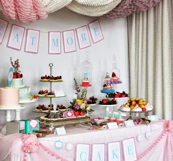 Wedding Shower Elegant Decorations Pink pictures
