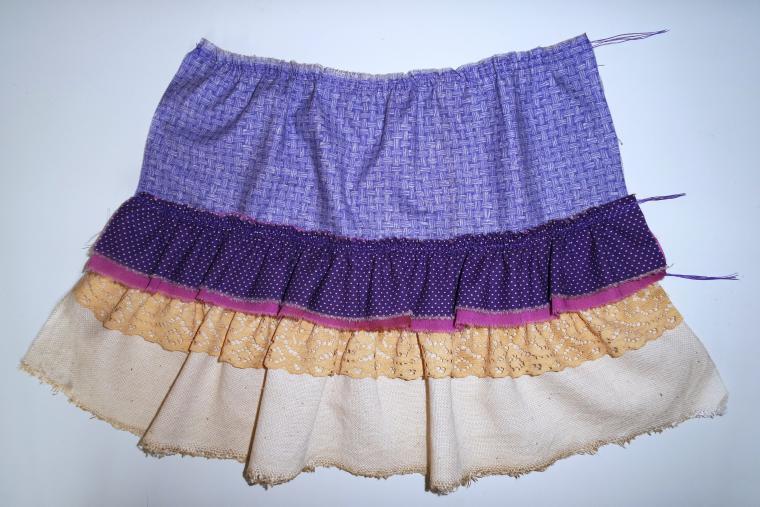 Как сшить многослойную юбку для девочки 50