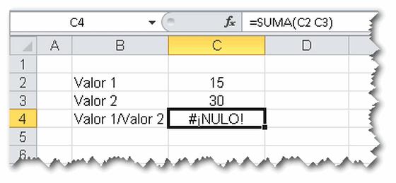 Gu 237 A De Tipo De Errores En Excel Jld Excel En Castellano