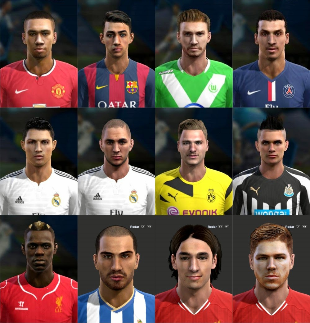 PES 2013 Update Facepack #12/10/2014 by Facemaker