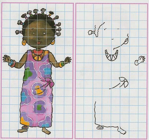 Maestra de Primaria Dibujos sencillos con cuadrcula Ejercicios