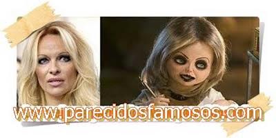 Pamela Aderson con la novia de Chucky