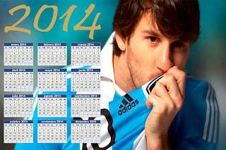 Calendario de Lionel Messi 2014