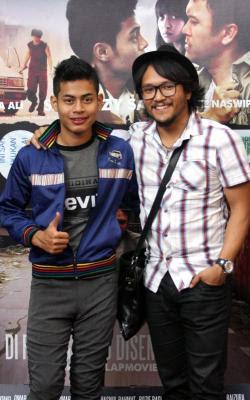 Gambar Syafie Naswip dan Shaheizy Sam Promosi Filem Songlap