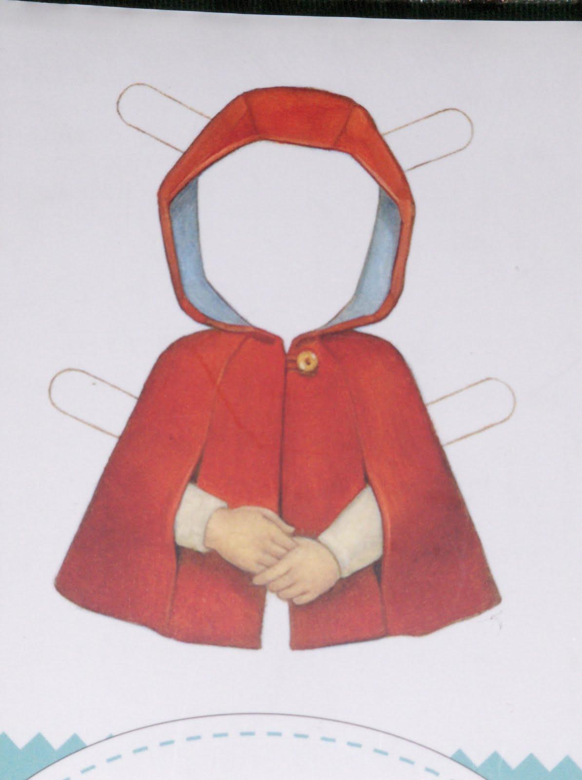 El objetivo es hacer esta capa de caperucita roja ideal y que tanto se