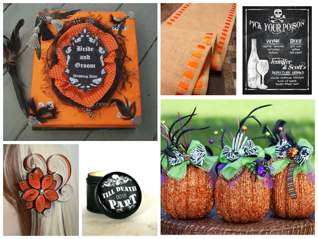 Halloween Wedding Inspiration Board, curated by Sugarplum Garters
