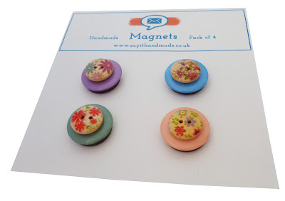 Handmade button magnets