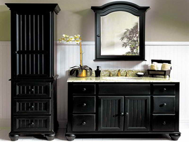 modern and elegance black bathroom vanity for urban - yonehome