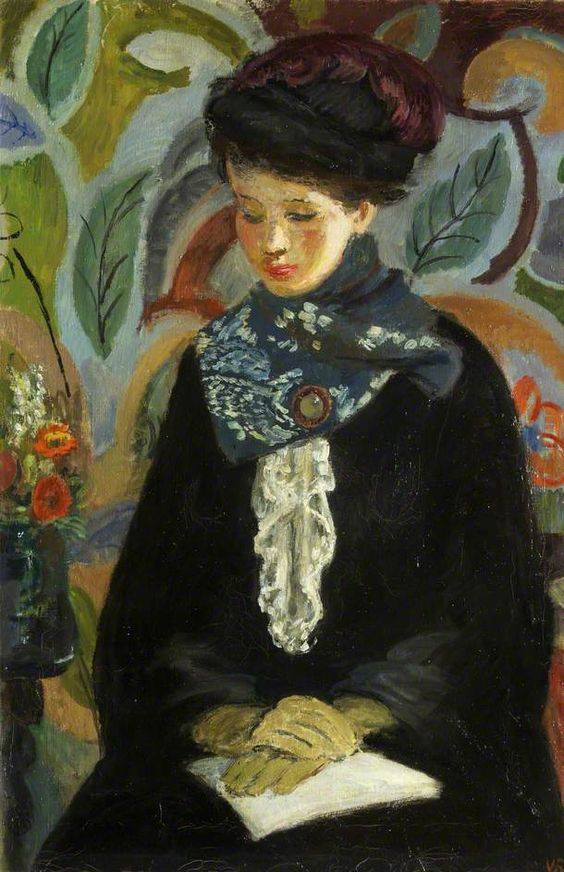 Vanessa Bell, Lady with a Book, 1945–6