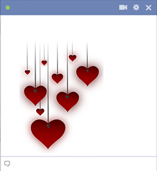 Hanging Facebook Hearts