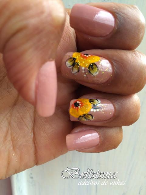 adesivos de flores amarela
