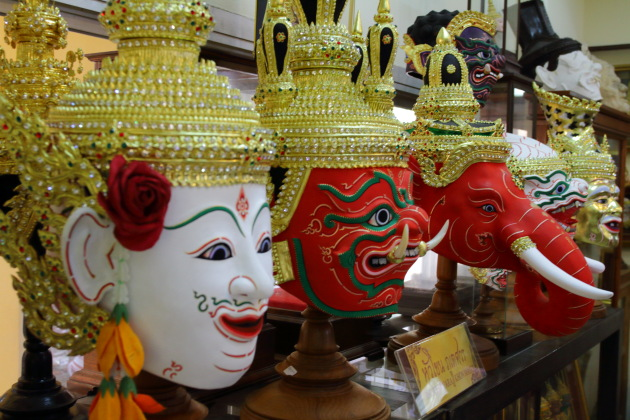 Hand made Khon Masks and that too with real gold