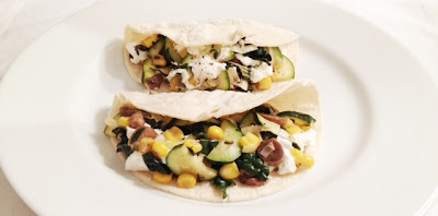 vegetable tacos goat cheese truffle oil blue plate taco recipe