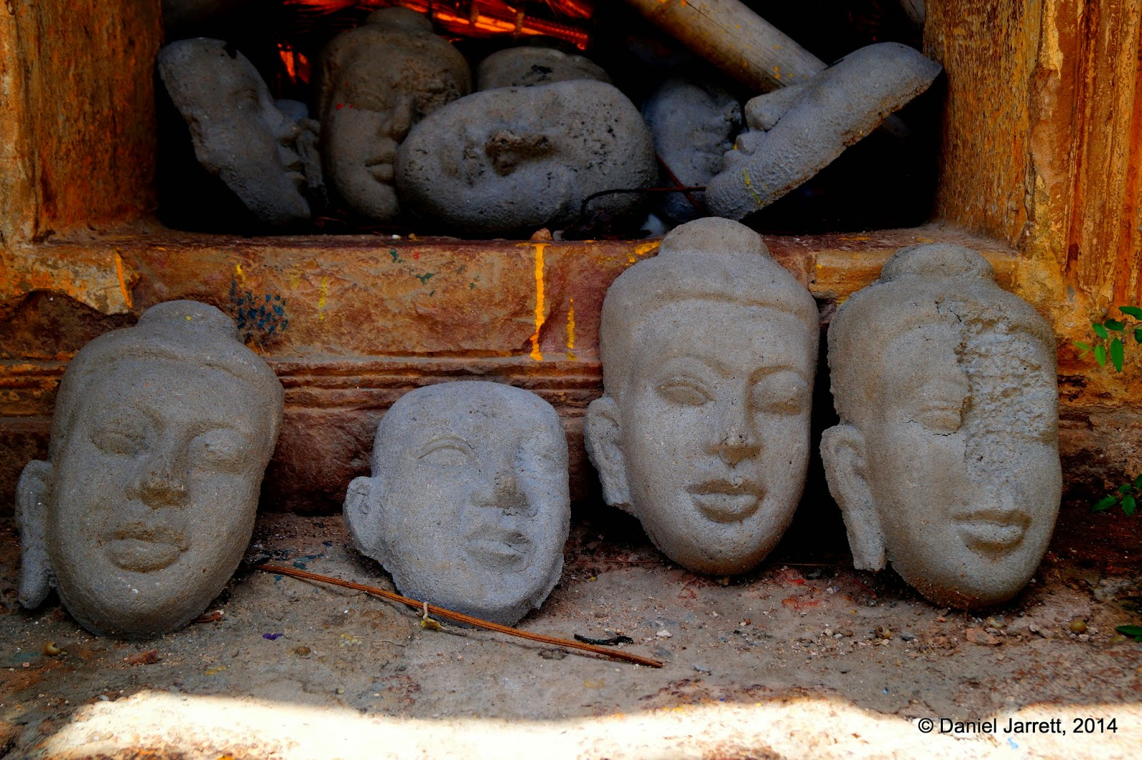 Faces at Vihear Preah Ath Roes, Phnom Oudong, Cambodia