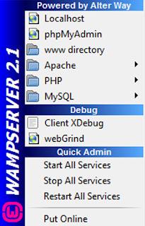 Wamp menu
