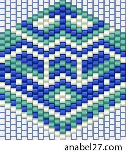 схемы бисероплетение мозаика free beading patterns peyote brick earrings.