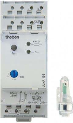 Công tắc cảm biến ánh sáng theben luna 109
