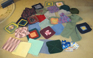 squares and hats for homeless