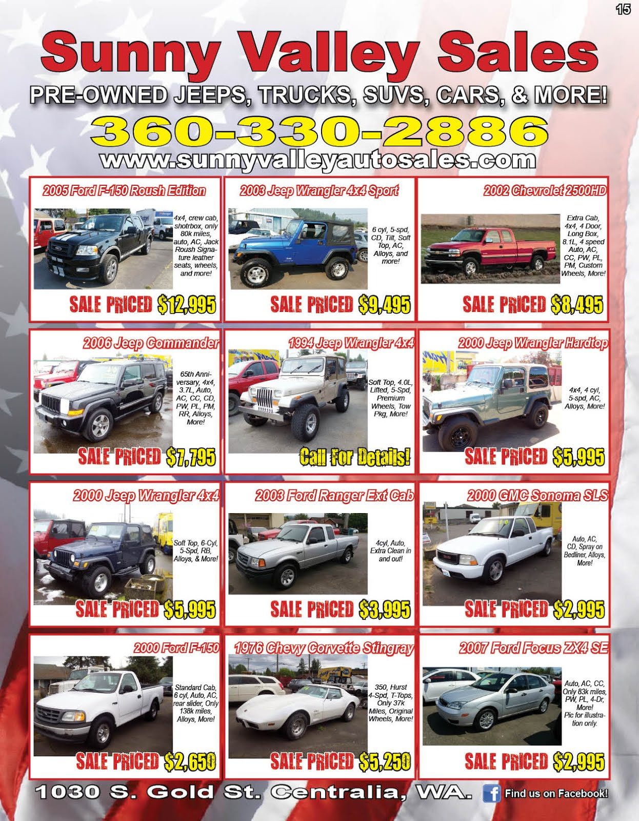 Sunny Valley Sales Used Cars & Trucks
