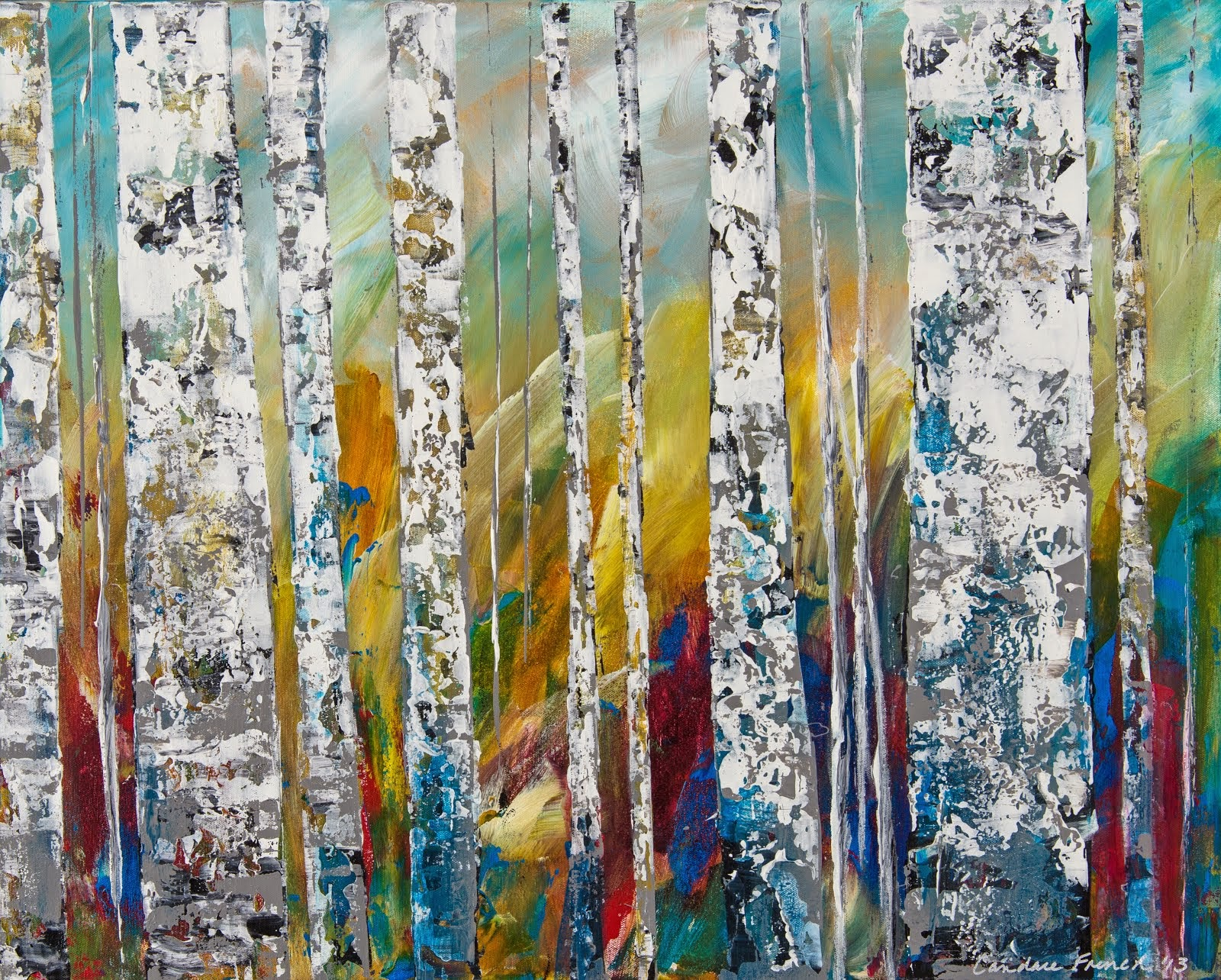 View my ASPENS Candace French Abstract Art