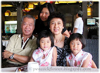With our grandchildren: Dylea, Renice and Renee