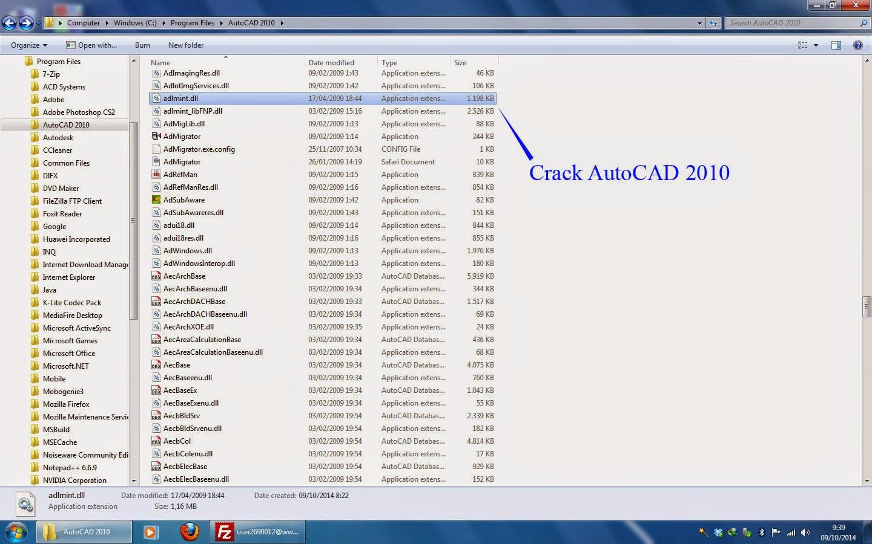 crack dan keygen autocad 2010