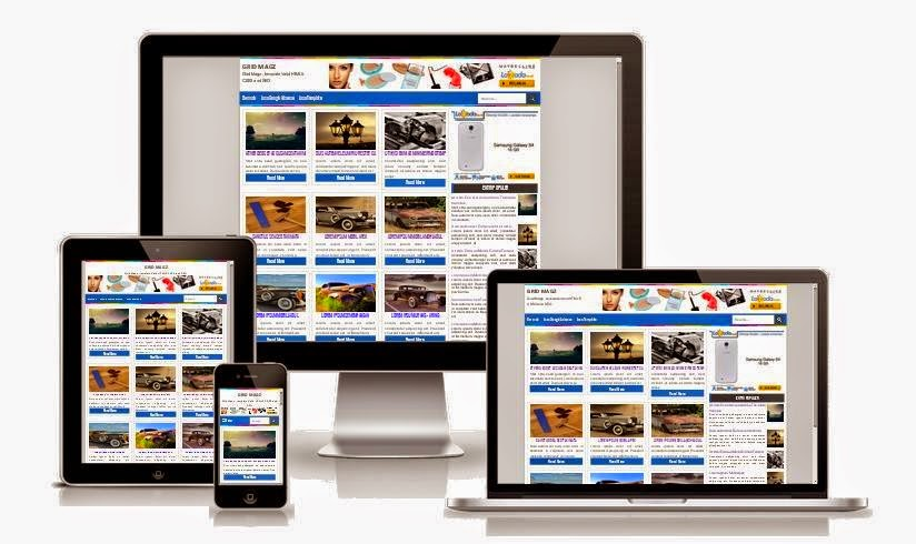 GRID MAGZ RESPONSIVE BLOGGER TEMPLATE - BEST GALLERY