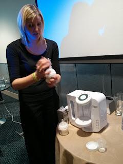 demonstrating perfect prep machine