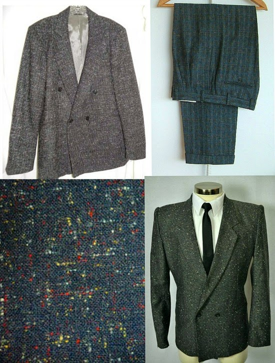 80s Flecked Suits