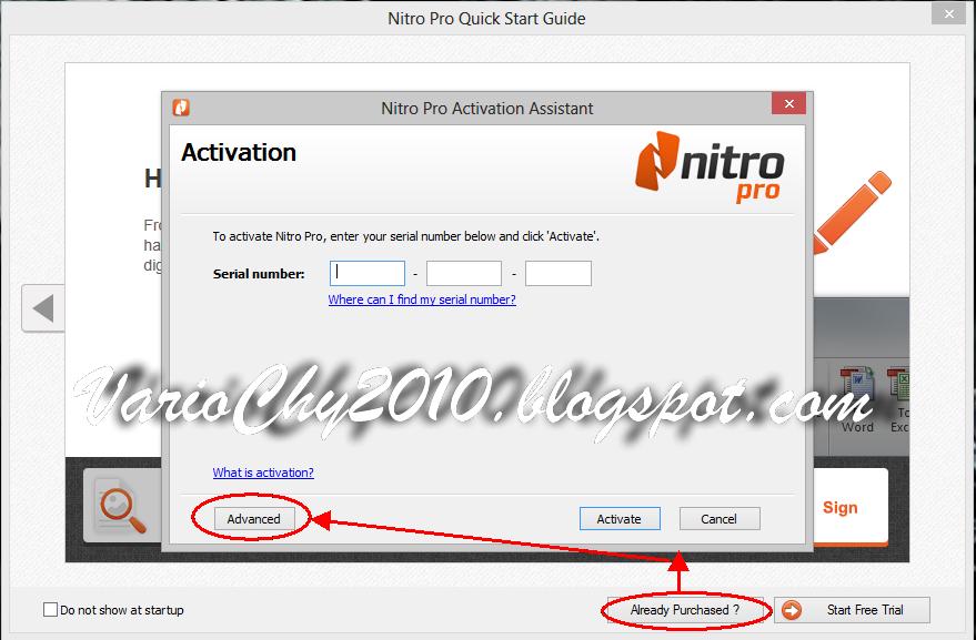 serial number nitro pro 8