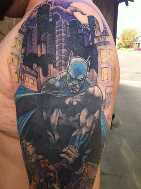 Batman Tattoos Half Sleeve
