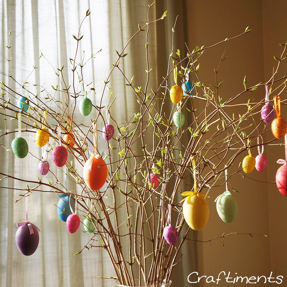 Craftiments:  Easter egg tree