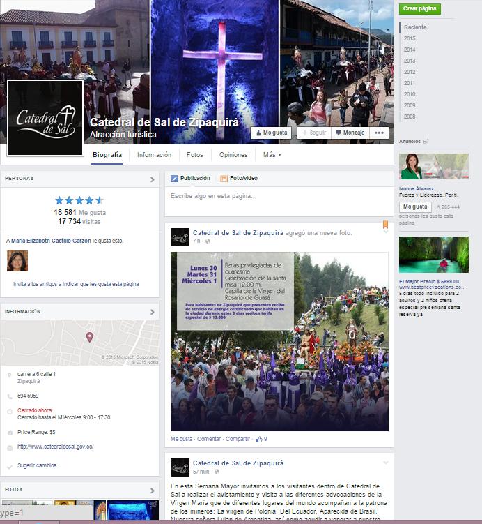 Por supuesto, la página oficial de la Catedral ya está disponible en Facebook, para quien lo requiera