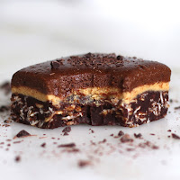 Healthy Triple-Decker Chocolate Peanut Butter Fudge