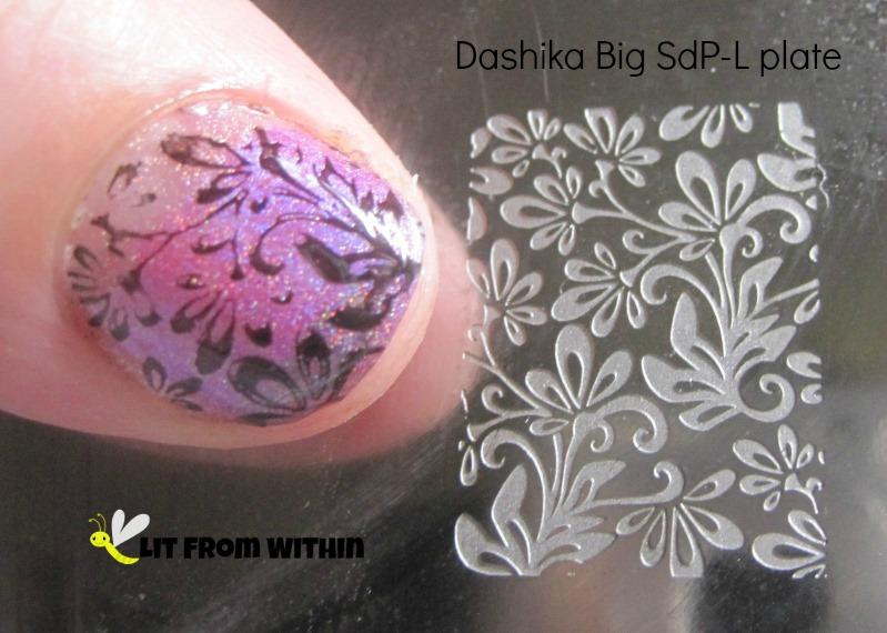 Dashika Big SdP-L plate and Wet 'n Wild Black Creme