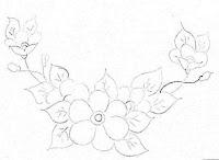 """""""risco flores para pintar pano de prato"""""""