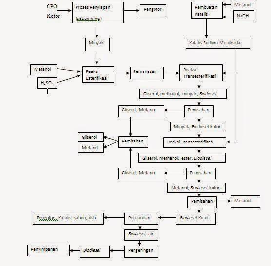 Rina krisnayana proses pembuatan biodiesel gambar 23 diagram alir proses produksi biodiesel dari minyak sawit ccuart Image collections