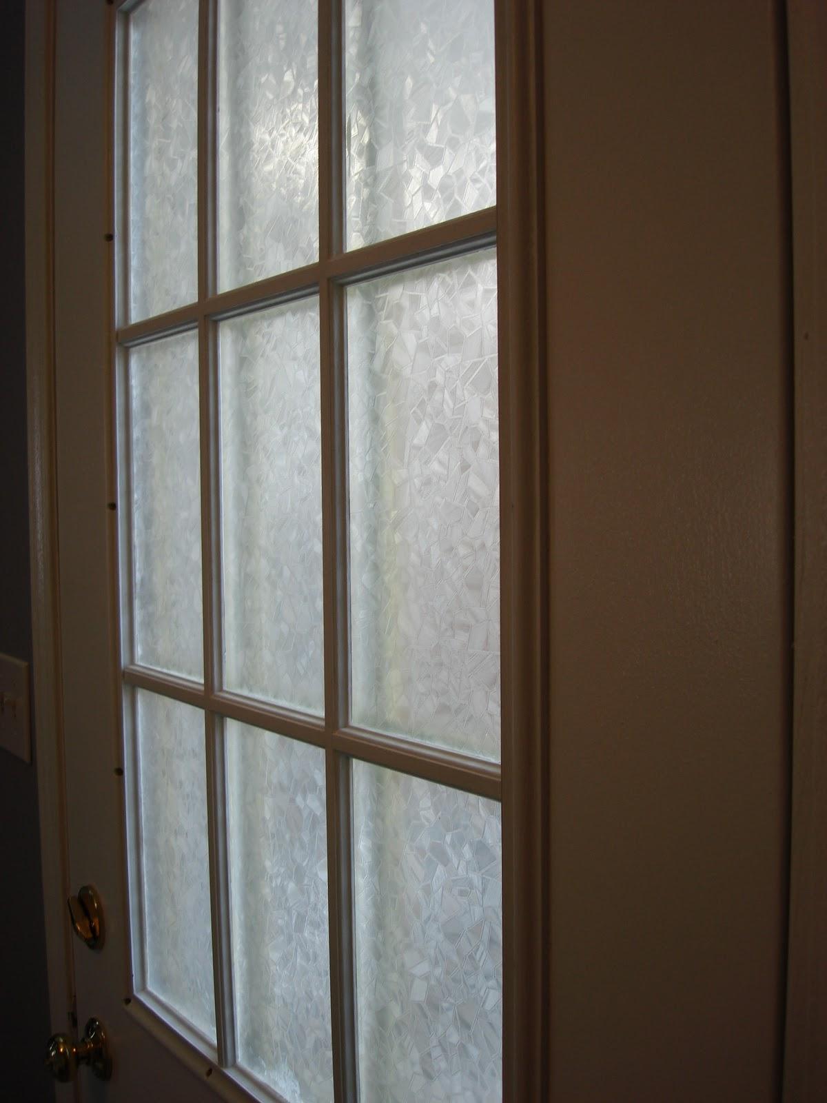dg style front door window treatment. Black Bedroom Furniture Sets. Home Design Ideas