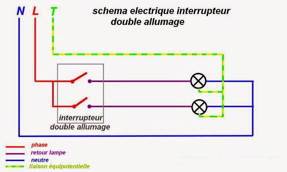Bien-aimé schema branchement cablage interrupteur allumage double - Arduino  AU88