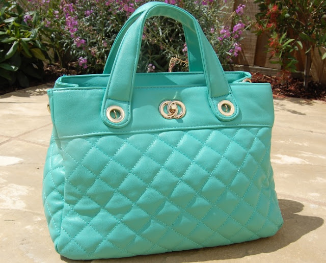 Mint Green Quilted Bag