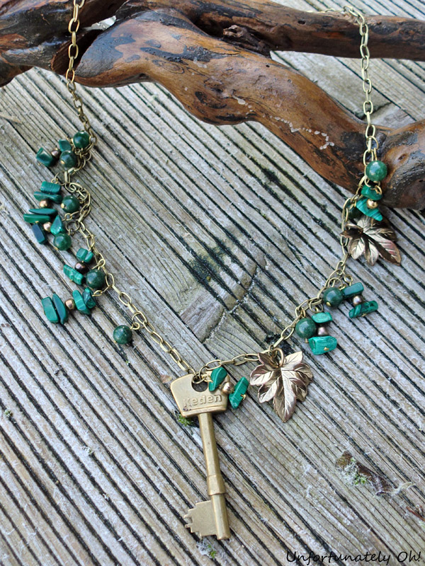 key necklace gemstone on etsy