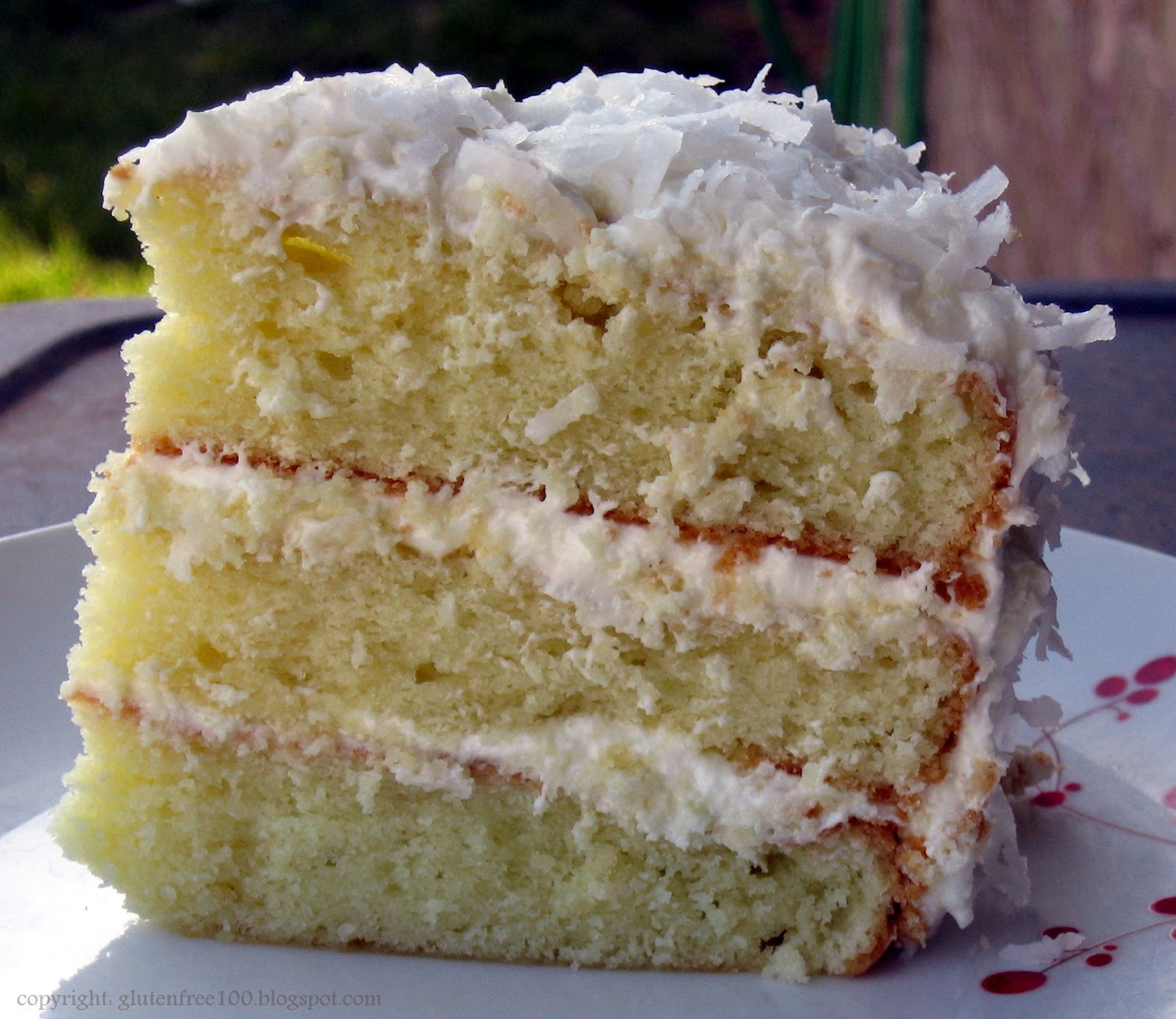 Recreating Happiness: Gluten Free: 3 Layer Coconut Cake with Lemon ...