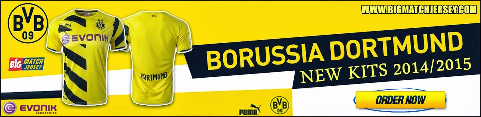 Banner Jersey GO Borussia Dortmund Official 2014 - 2015 Puma