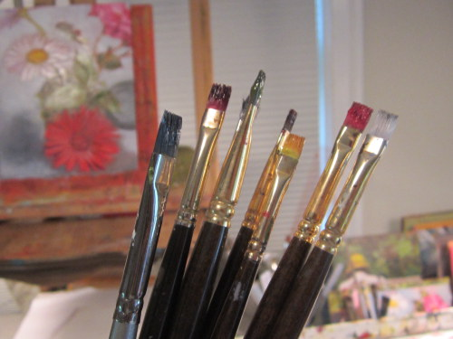 Splayed Oil Paint Brush
