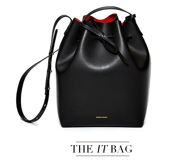 Black Mansur Gavriel bucket bag for spring