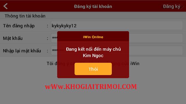 Hướng dẫn đăng ký mới tài khoản game iWin Online miễn phí