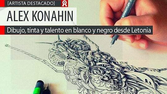 Dibujo, tinta y talento de ALEX KONAHIN